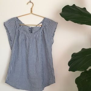 Lauren Conrad Striped Shirt with Tie in the Back